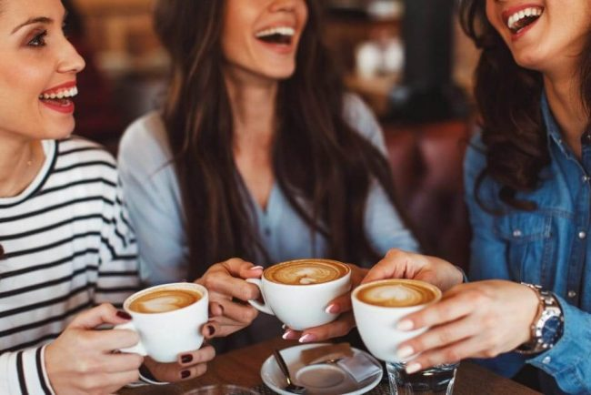 Enjoying Coffee with Friends